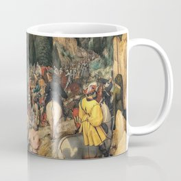 Renaissance Italy - people on a mountain path vintage painting Coffee Mug