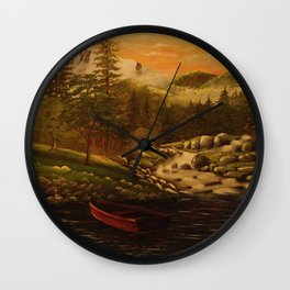 Fall Wall Clock