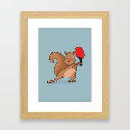 Talented Squirrel Framed Art Print
