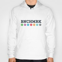 workout Hoodies featuring Benchmark Workout Infographic Poster by BNCHMRK