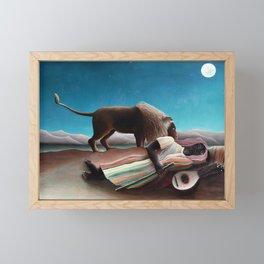 Henri Rousseau The Sleeping Gypsy Framed Mini Art Print