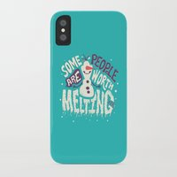 risa rodil iPhone & iPod Cases featuring Worth melting for by Risa Rodil