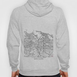 San Juan Map White Hoody