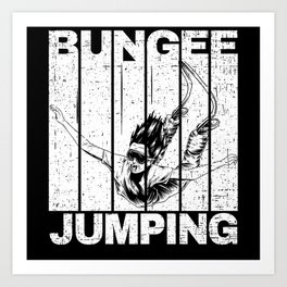 Bungee Jumping With Jumper Art Print