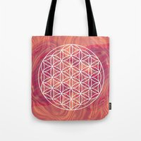 flower of life Tote Bags featuring Life Flower by shutupbek