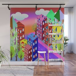 Abstract Urban By Day Wall Mural