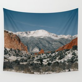 Snowy Mountain Tops Wall Tapestry