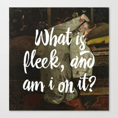 what is fleek and am i on it Canvas Print