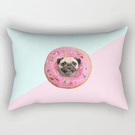 Pug Strawberry Donut Rectangular Pillow