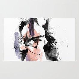 Shibari - Japanese BDSM Art Painting #9 Rug