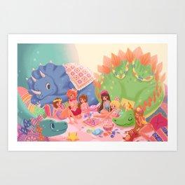 Dino Slumber Party Art Print
