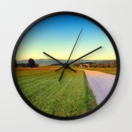 Autumn afternoon in the countryside | landscape photography Wall Clock
