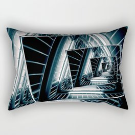 Path of Winding Rails Rectangular Pillow
