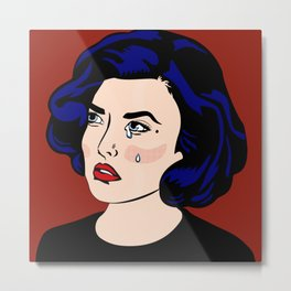 SAD GIRLS CLUB MEMBER AUDREY HORNE Metal Print