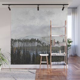 Loch,trees and mountains, Scottish Highlands Wall Mural