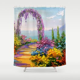 Blooming arch Shower Curtain