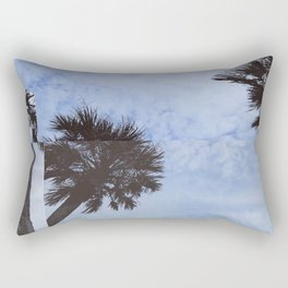palm trees but distorted Rectangular Pillow