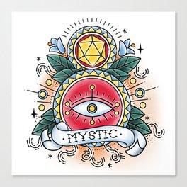 Mystic - Vintage D&D Tattoo Canvas Print
