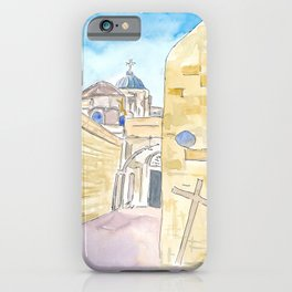 Jerusalem Via Dolorosa Church of the Holy Sepulchre iPhone Case