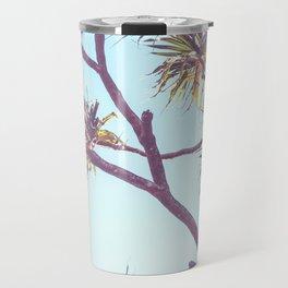 Retro Tropical Palm Tree Travel Mug