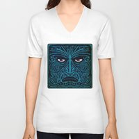 maori V-neck T-shirts featuring maori style 03 by Alexis Bacci Leveille
