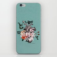 coconutwishes iPhone & iPod Skins featuring Drag Me Down by Coconut Wishes