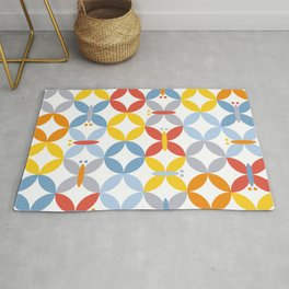 butterflies in formation Rug