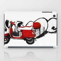 vespa iPad Cases featuring Vespa by absoluca