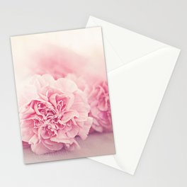 Pale Pink Carnations 4 Stationery Cards