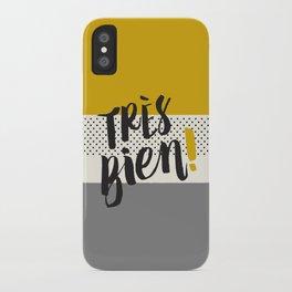 Très Bien on Stripes iPhone Case