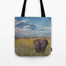 Elephant Savanna Tote Bag