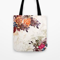 Vintage rose garden Tote Bag