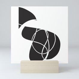 abstract black and white no.1 Mini Art Print