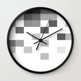 Gray Scale In Pixels Wall Clock
