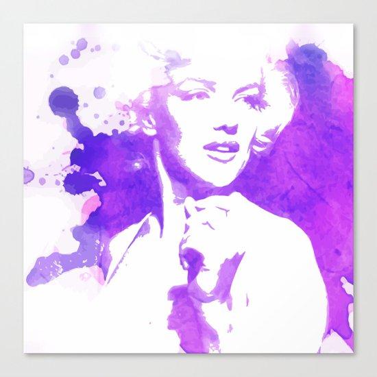Marilyn Watercolor II Canvas Print