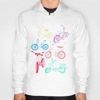 bikes Hoodies featuring Bikes by WEAREYAWN