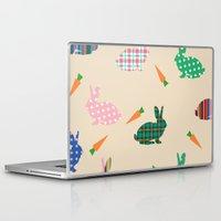 rabbits Laptop & iPad Skins featuring rabbits by vitamin