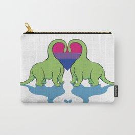 Bi Pride - Dino Love Carry-All Pouch