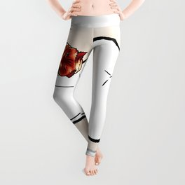 cat nude Leggings