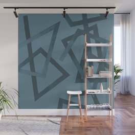 Blueprint and  Watercolor Texture 2 Wall Mural