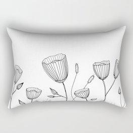 Floral Doodle illustration Rectangular Pillow