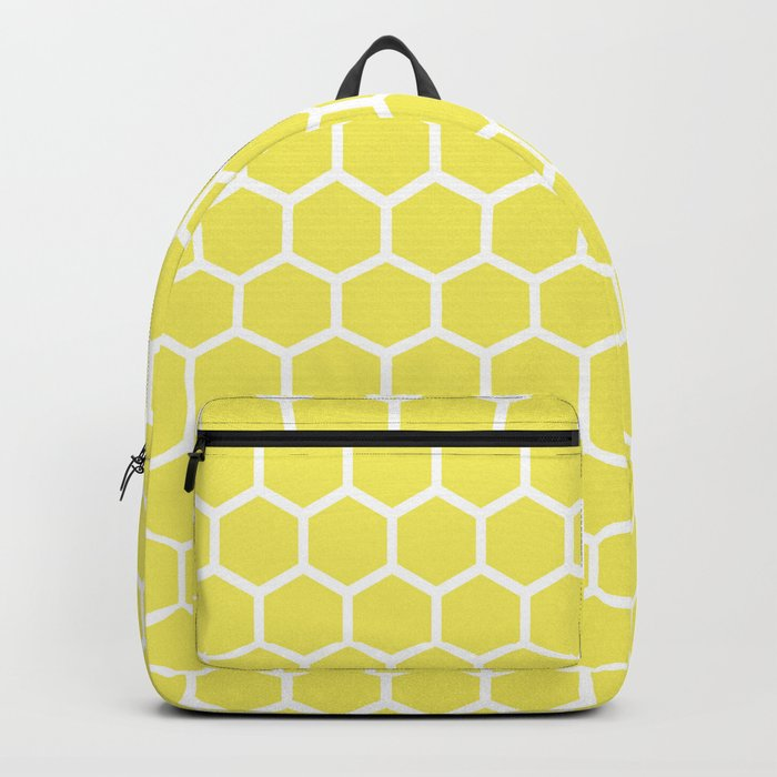 Summery Happy Yellow Honeycomb Pattern- MIX & MATCH Backpack