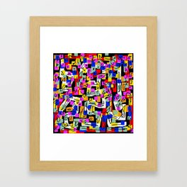 abstract laberinto Framed Art Print