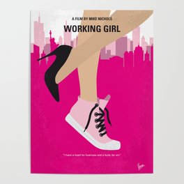 No987 My Working Girl minimal movie poster Poster