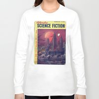 sci fi Long Sleeve T-shirts featuring Retro 1951 Sci-Fi by InvaderDig