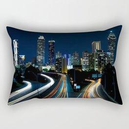 Atlanta Night Skyline Rectangular Pillow