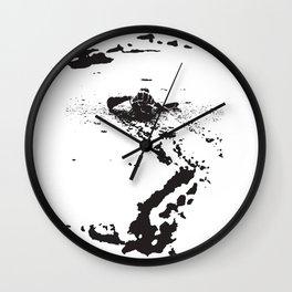 B&W Leatherback Sea Turtle Wall Clock