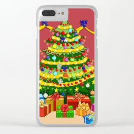 Presents under Christmas Tree Clear iPhone Case