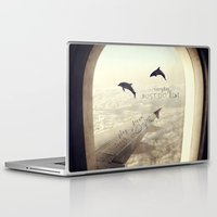 dolphins Laptop & iPad Skins featuring Dolphins by Paula Belle Flores