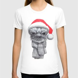 Christmas Ostrich red G145 T-shirt
